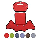 BambiniWelt24 BAMBINIWELT Ersatzbezug, Sitzkissen, Bezug für Fahrradsitz, Modell RÖMER Jockey (Modell 4, meliert) (rot meliert)