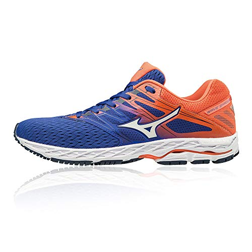 Mizuno Men Wave Shadow 2 Competition Running Shoe Running Shoes Blue - Orange 9