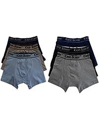 6 o 12 Pairs Boys Bóxers de algodón diseño Bañador bóxer ropa interior ...