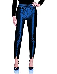 oneOeightdesigns Women's Silk Tulip Trouser with cotton Lining (Pearl and Stone Beads) Navy Blue-34