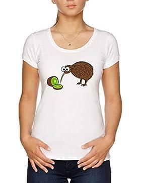 Vendax Kiwi Pájaro Camiseta Mujer Blanco