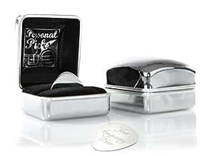 Personalised Silver Guitar Plectrum / Pick - Engraved