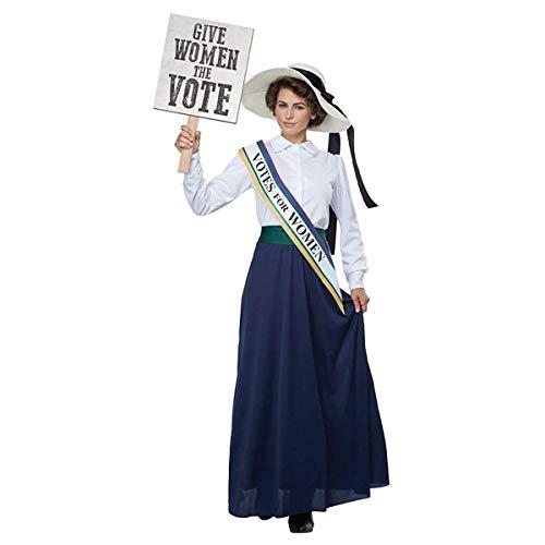 Women's American Suffragette Fancy Dress Costume X-Large -