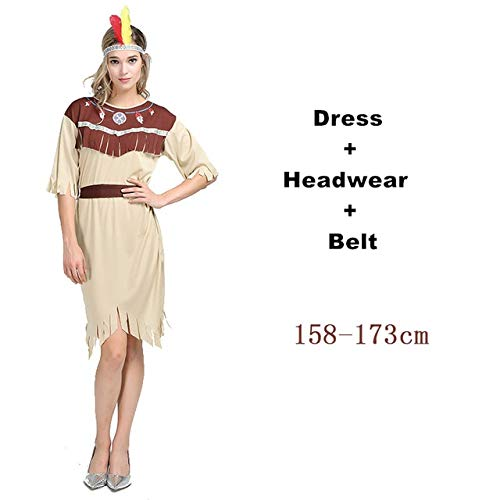 Adult Pocahontas Halloween Kostüm - WSCOLL Cosplay Indian Halloween Costumes for