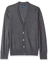 Amazon Brand - Buttoned Down Men's Italian Merino Cardigan