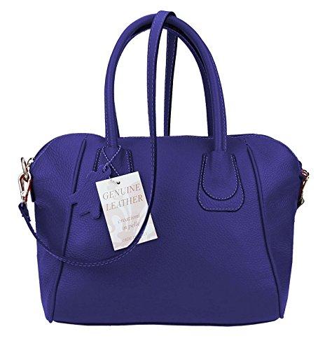 Made Italy , Sac à main pour femme 29x26x14 cm (BxHxT) Bleu - Dunkel Blau