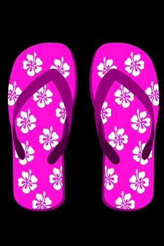 2b12c5f7e Flip Flops  150 Lined Journal Pages Diary Notebook Featuring Hot Pink Flip  Flop