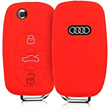 kwmobile Funda de Silicona para Llave con Control Remoto de 3 Botones para Coche Audi -