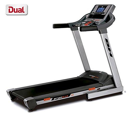 """BH Fitness F2W DUAL G6473U klappbares Laufband - 2.75PS-Motor - 1 - 18 km/h - Elektrische Schrägstellung bis zu 12% Steigung - 6.8"""" LCD-Bildschirm - Anschluss von Smartphones/Tablets"""