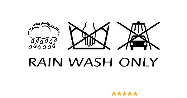 Aufkleber Rain Wash Only 190 X 70 Mm Schneller Versand Innerhalb 24 Stunden Auto