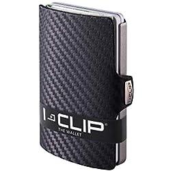 I-CLIP Cartera Delgada Tarjetero Pequeño para Tarjetas de Crédito y Billetes (carbon)