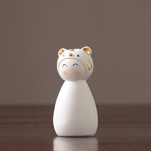 Powzz ornament arredi per la casa di animali dell'aria del nord europa, mobili per ufficio, accessori per armadietti tv, regali regali, circa 4 * 4 * 10 cm, tigre