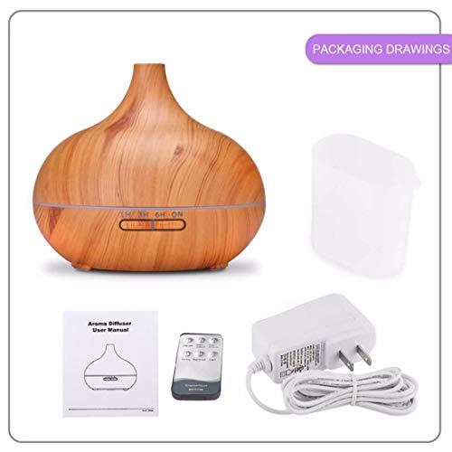Sanzhileg 400ML Ultra Quiet Remote Control Ultrasonic Oil Diffuser Air Humidifier Aroma Aromatherapy Mist Maker para la Oficina en el hogar