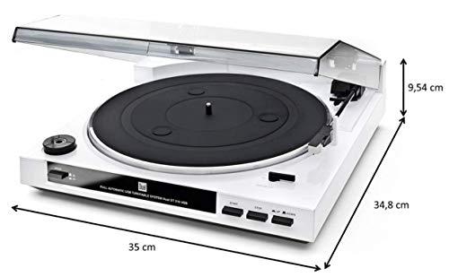 Dual DT 210 USB Schallplattenspieler mit Digitalisierungsfunktion, weiß - 6