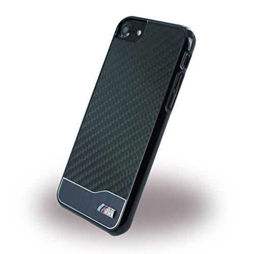 BMW BMHCP7MDCS M Sport Carbon Fiber iPhone 7 Silver Alluminio / nero
