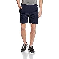 Lotto Shorts Carter - Pantalones cortos de tenis para hombre, color Blanco, talla L