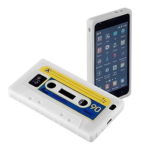 yayago Silikonhülle Schutzhülle Tasche für Samsung Galaxy S 2 II i9100 und Samsung Galaxy S2 Plus i9105 / i9105P NFC - Retro Kassette Tape -
