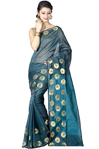 Chandrakala Pure Banarasi Weaves- Green Saree(8217)