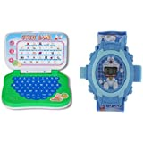 Educational LEARNING LAPTOP AND DOREAMON KIDS PROJECTOR WATCH PERFECT GIFT FOR KIDS
