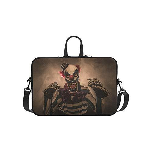 Böse Scary Clown Monster Muster Aktentasche Laptoptasche Messenger Schulter Arbeitstasche Crossbody Handtasche Für Geschäftsreisen (Filme Scary Clown)