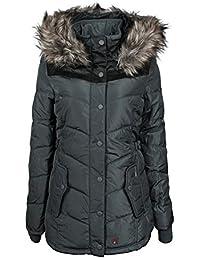 Khujo Damen Winterjacke Winsen Kunstfell Kapuze