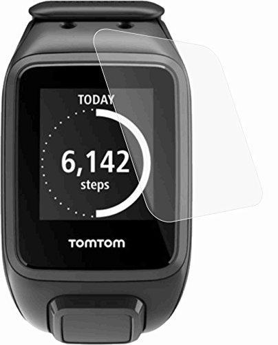 Preisvergleich Produktbild TomTom Spark (2 Stück) GEHÄRTETE Displayschutzfolie Bildschirmschutzfolie ANTIREFLEX mit RAKEL UND TUCH - KRATZFEST UND PASSGENAU