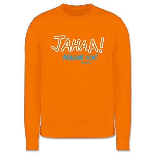 Sprüche - Mache ich später - Herren Premium Pullover Orange