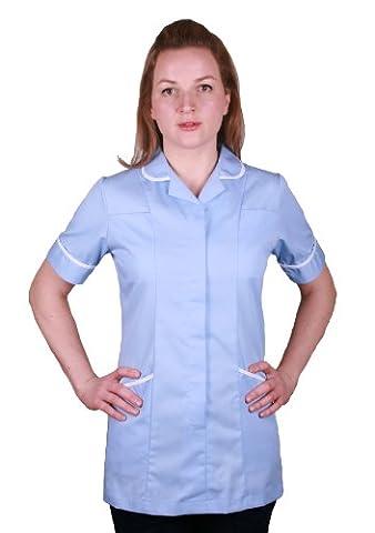 Nurse Domestic Medical Healthcare Tunic Uniform (16, Sky Blue)