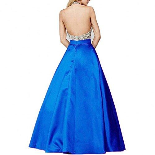 Bridal_Mall - Robe de mariage - Trapèze - Sans Manche - Femme Bleu - Bleu