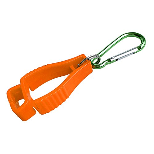 Homyl Kunststoff Handschuh Grabber Clips Handschuhhalter Tarp Clip für Arbeitshandschuhe Trainingshandschuhe Skihandschuhe Golfhandschuhe - Orange