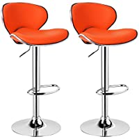95be751c4684 WOLTU Bar Stools Orange Bar Chairs Breakfast Dining Stools for Kitchen  Island Counter Bar Stools Set