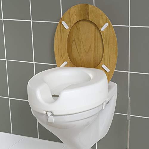 Wenko 17950100 WC Sitz-Erhöhung Secura – 150 kg Tragkraft, Kunststoff, 41.5 x 17 x 44 cm, weiß