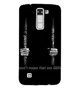 PrintVisa Behind Bars Design 3D Hard Polycarbonate Designer Back Case Cover for LG K7