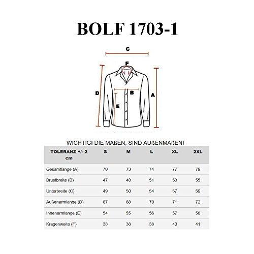 BOLF - Chemise casual – Manches longues - Élégant – BOLF 1703-1 - Homme Noir