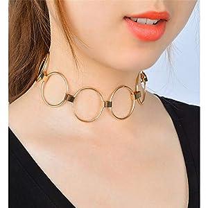 XUHAHAXL Halskette/Punk Übertrieben Persönlichkeit Street Pat Dekoration Metall Kreis Joker Halskette Halskette