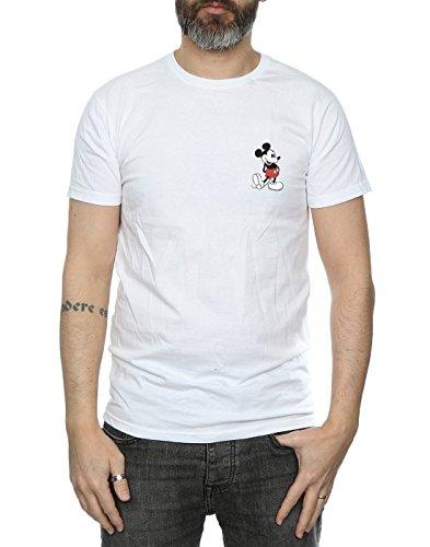 Disney Hombre Mickey Mouse Kickin Retro Pocket Camiseta