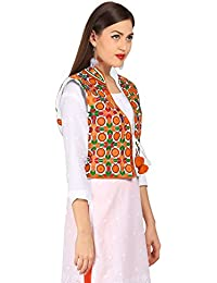 Vastraa Fusion Women's Cotton Ethnic Jacket (VASTRAATS0121-S)
