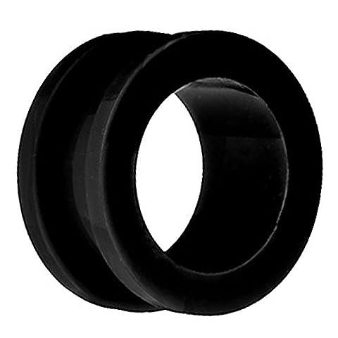 Piersando® Flesh Tunnel Ohr Plug Piercing Ohrpiercing Schraub Acryl Kunststoff 12 mm Schwarz (12 Stück Schwarze Acryl)