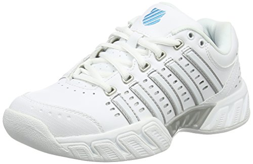 K-Swiss Performance Damen Bigshot Light LTR Carpet Tennisschuhe, Weiß (White/Hawaiian Ocean), 38 EU