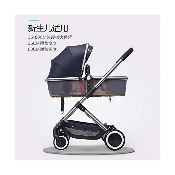 XYUJIE Baby Carriage,Ultra Light And High Landscape Can Sit Reclining Four Wheel Shock Simple Folding Trolley XYUJIE  4
