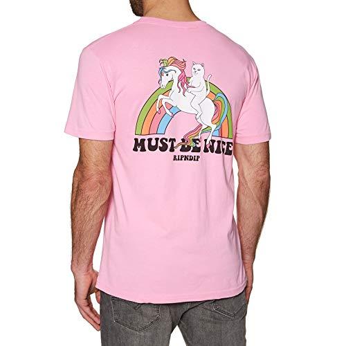 81d65a9a09bbd2 Rip N Dip My Little Nerm Pocket Short Sleeve T-Shirt Large Pink