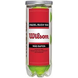 Wilson Padel Rush 100 - Pelotas de tenis, color amarillo, talla única