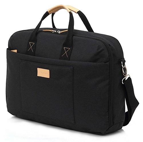 """deleyCON Notebook-Tasche bis 13,3\"""" Zoll (33,7cm) Laptop Notebook Netbook MacBook Tragetasche Schultertasche Schutztasche Leinengewebe Schwarz"""