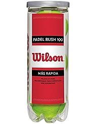 Wilson Rush Lot de 3 balles de tennis Jaune