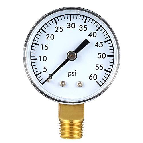 ZCHXD Bottom Mount Pressure Gauge, 60 PSI, 2