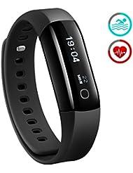 Mpow Bracelet Sport Étanche Bluetooth Bracelet Intelligent Fréquence Cardiaque Pédomètre Bluetooth Pour iPhone et Android