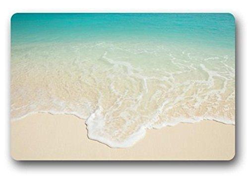 ELQSMTIR Custom Sommer Strand Thema reinigen Sea Wave Stoff Machine-wahable Vlies Fußmatte Indoor-/Badezimmer 59,9x 39,9cm (Strand-themen-stoff)