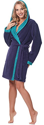 Merry Style Accappatoio per Donna MSLL1002 Viola/Blu