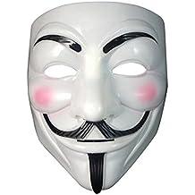 Masque ANONYMOUS - V POUR VENDETTA - REVOLUTION - BLANC