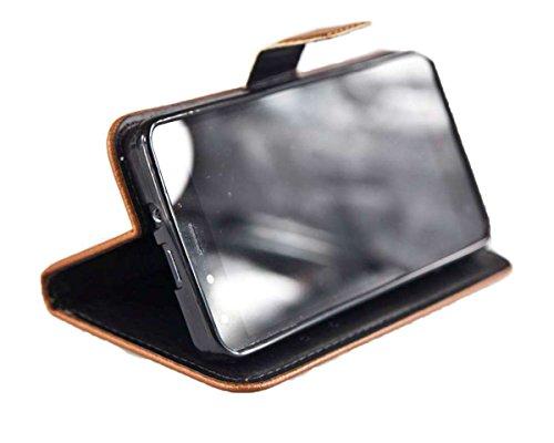 caseroxx Tasche Case Hülle Bookstyle-Case für Medion Life X5001 MD98499 in braun